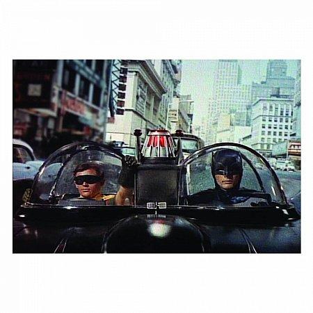 Quadro Tela movie batman e robin front car 50x70