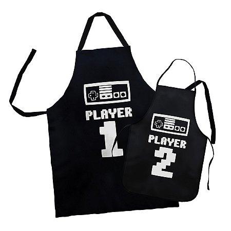 Kit Avental Player 1 Player 2