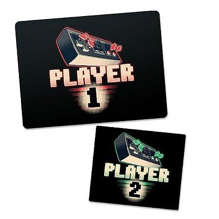 Mousepad Gamer Player 1 e Mousepad Player 2