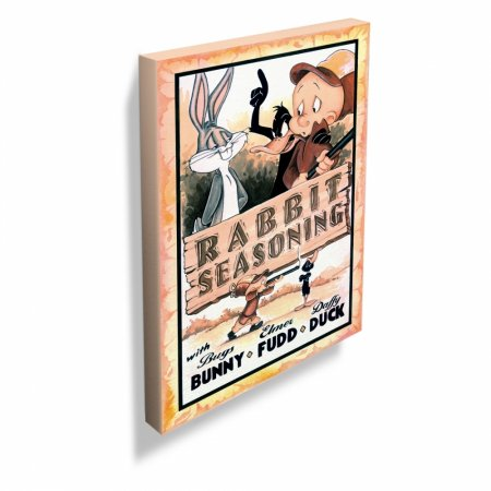 Quadro tela looney rabbit seasoning movie poster