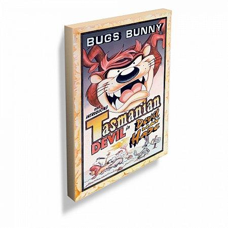 Quadro tela looney tasmanian devil movie poster