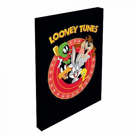 Quadro tela com led looney all caracthers looney tunes