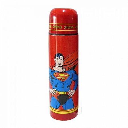 Garrafa termica aco inoxpp dc superman