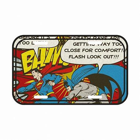 Placa parede dc batman and superman