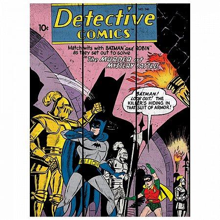 Placa dco batman and robin in a castle