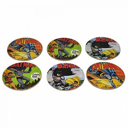 Set Com6 Porta Copos Dc Batman And Robin Actions