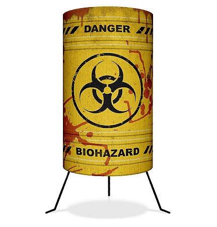 Luminária Barril Biohazard Risco biológico