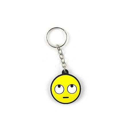 Chaveiro Borracha - Emoji Virando os olhos