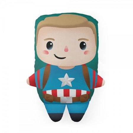 Almofada Formato Cute Capitão América