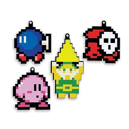Kit Enfeites de Natal personagens pixel