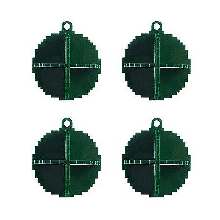 Kit bolas de Natal pixel verde