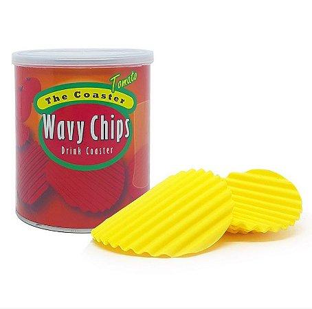 Porta Copos em Silicone Wavy Chips Tomato