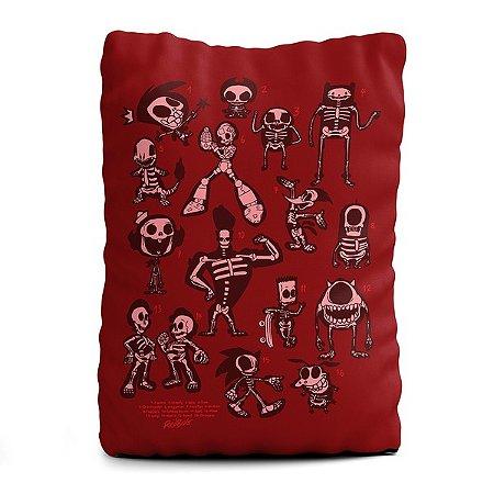 Almofada retangular Esqueletos Personagens