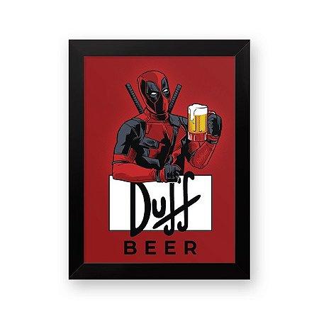 Pôster com Moldura Deadpool Duff Beer 34x26 cm