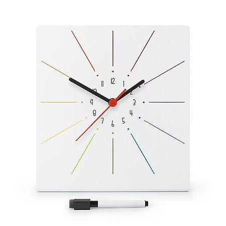 Relógio de Parede Cores com Planner