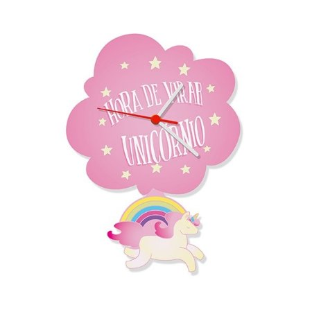 Relógio de Parede com Pêndulo Unicórnio
