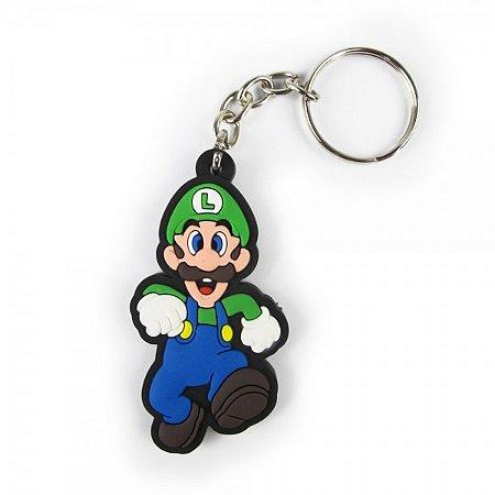 Chaveiro emborrachado Luigi Super Mario