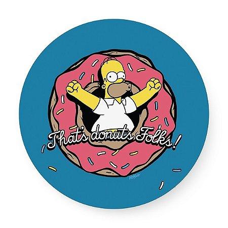 Bandeja giratória madeira Simpsons Homer Donuts