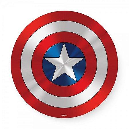Bandeja giratória madeira Escudo Capitão América