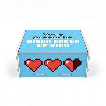 Caixa para Fotografia Coração Pixel