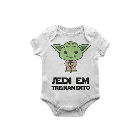 Body Bebê Star Wars Yoda jedi em treinamento