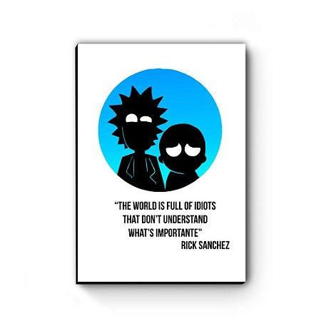Quadro decorativo Rick and Morty Lua Azul