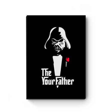 Quadro decorativo MDF Darth Vader Corleone