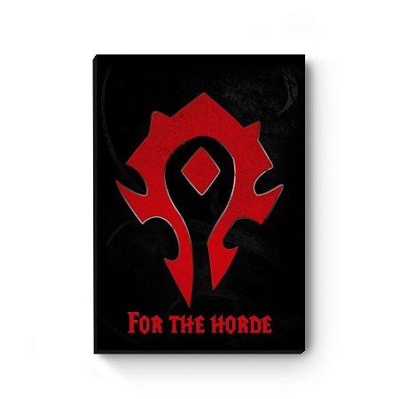 Quadro decorativo MDF world of warcraft horda
