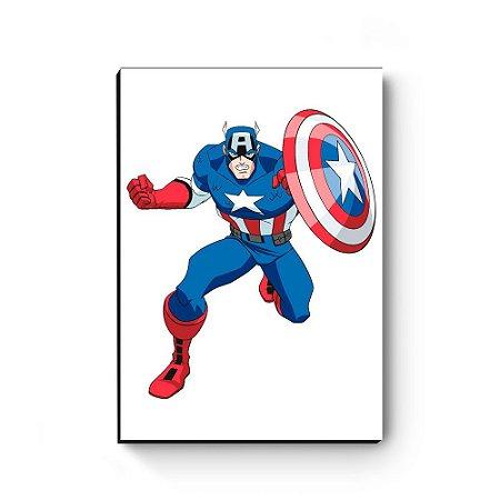 Quadro decorativo MDF Marvel Capitão América