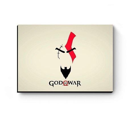 Quadro decorativo MDF God Of War Kratos