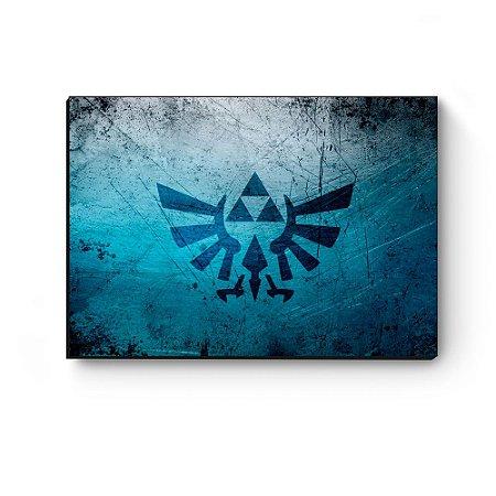 Quadro decorativo MDF Legend Of Zelda logo azul