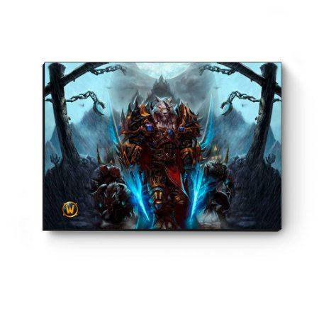 Quadro decorativo MDF World Of Warcraft Worgen I