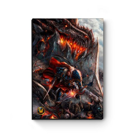 Quadro decorativo MDF World Of Warcraft Varian IV