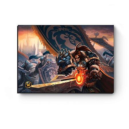 Quadro decorativo MDF World Of Warcraft Varian I
