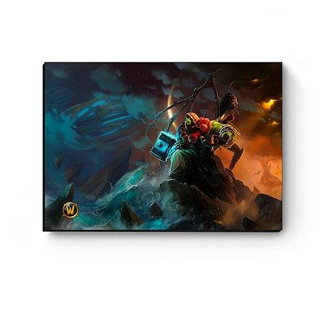 Quadro decorativo MDF World Of Warcraft Thrall II