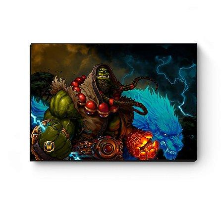 Quadro decorativo MDF World Of Warcraft Thrall I