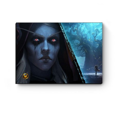 Quadro decorativo MDF World Of Warcraft Sylvanas III