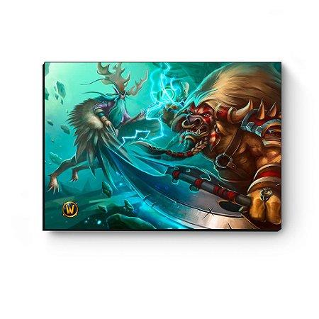 Quadro decorativo MDF World Of Warcraft Malfurion II
