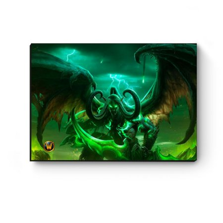Quadro decorativo MDF World Of Warcraft Illidan I