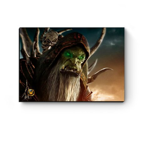 Quadro decorativo MDF World Of Warcraft Guldan III