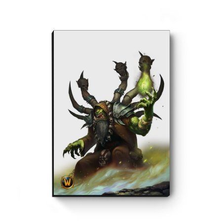 Quadro decorativo MDF World Of Warcraft Guldan I