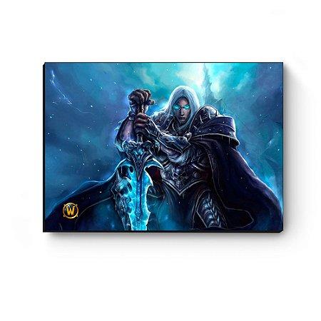 Quadro decorativo MDF World Of Warcraft Arthas III