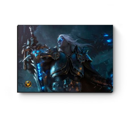 Quadro decorativo MDF World Of Warcraft Arthas II