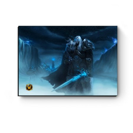 Quadro decorativo MDF World Of Warcraft Arthas I