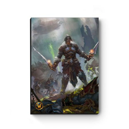 Quadro decorativo MDF World Of Warcraft Varian III