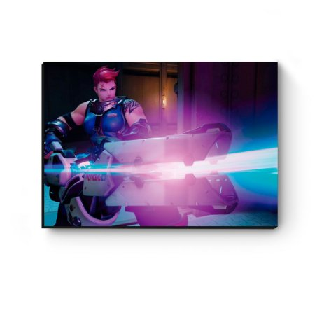 Quadro decorativo MDF Overwatch Zarya