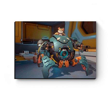 Quadro decorativo MDF Overwatch Wrecking Ball