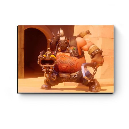 Quadro decorativo MDF Overwatch Roadhog