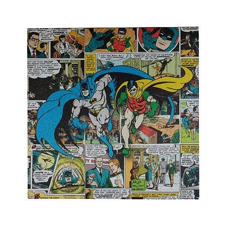 Quadro tela Batman e Robin 40 x 40cm