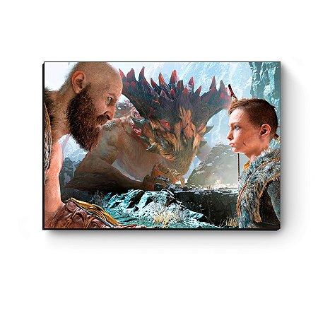 Quadro decorativo MDF GOW Kratos Atreus